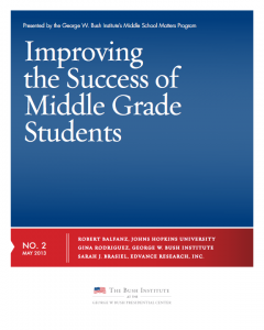 Improving the Success of Middle Grade Students
