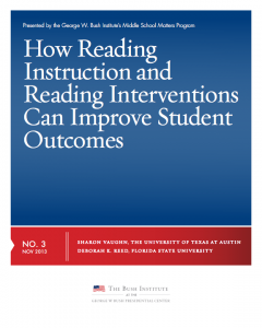 reading instructional practices brief