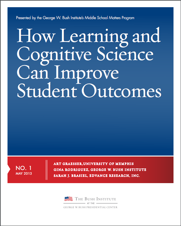 screen shot of a document that reads Learning and Cognitive Science can improve student outcome