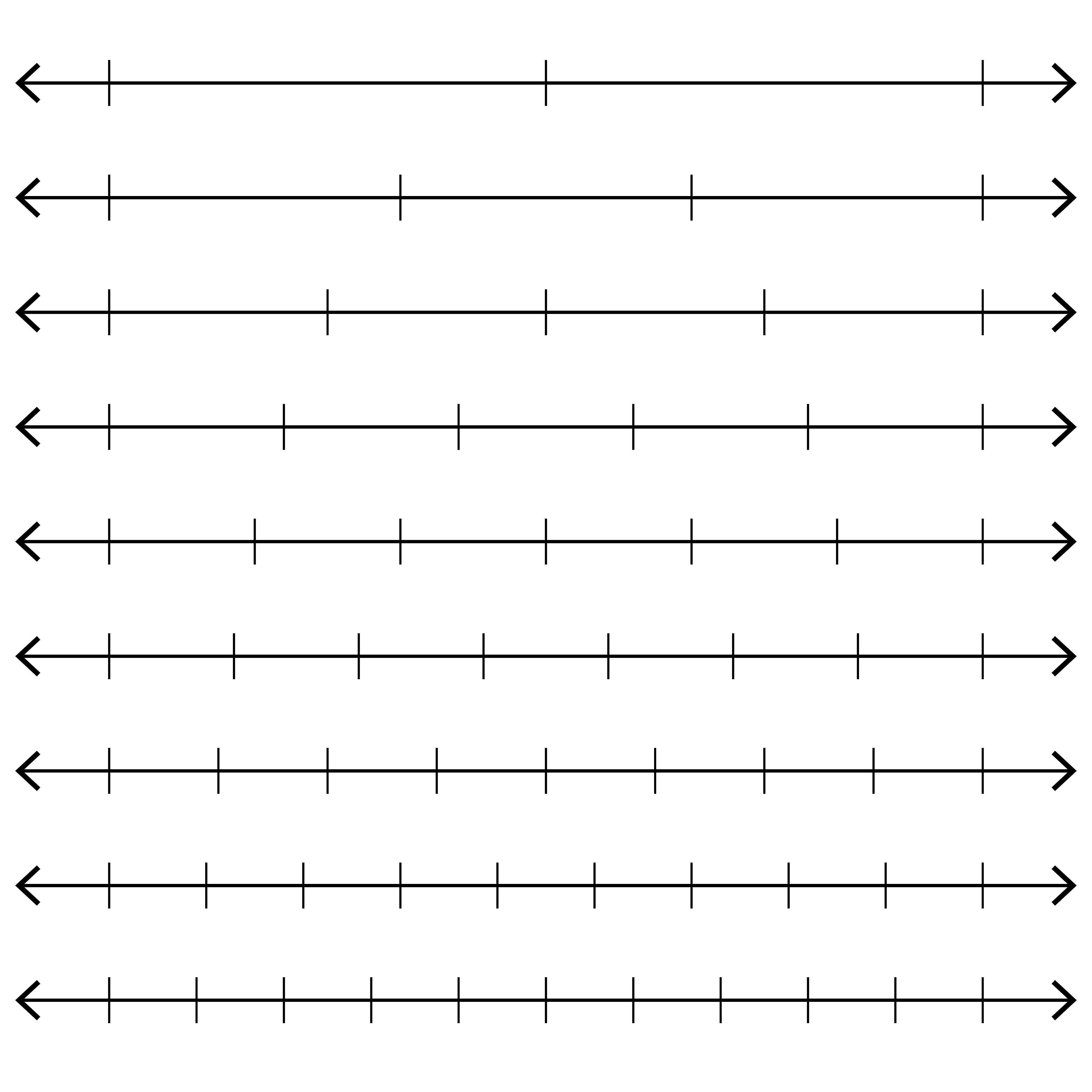 Clever image with printable blank number lines