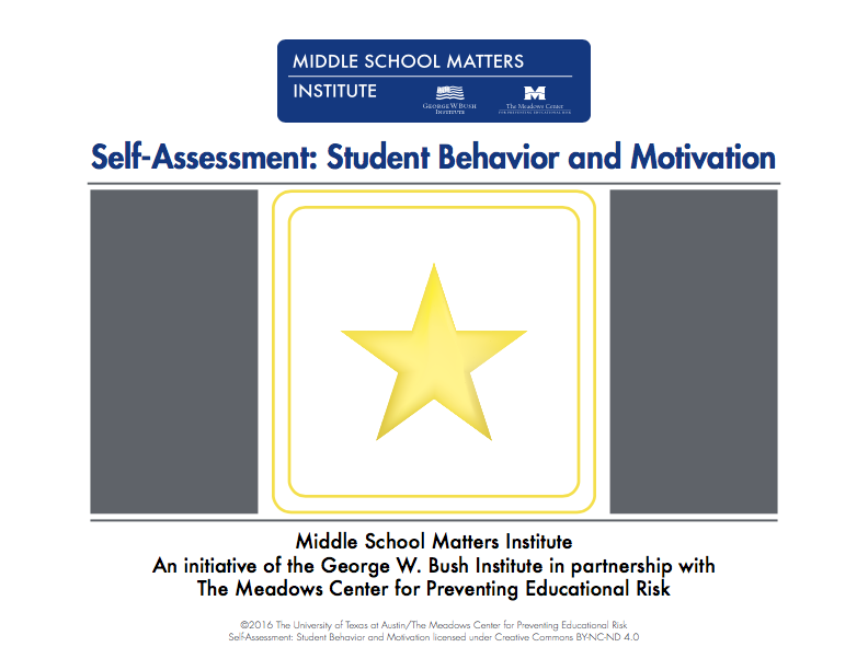 Student Behavior motivation self-assessment
