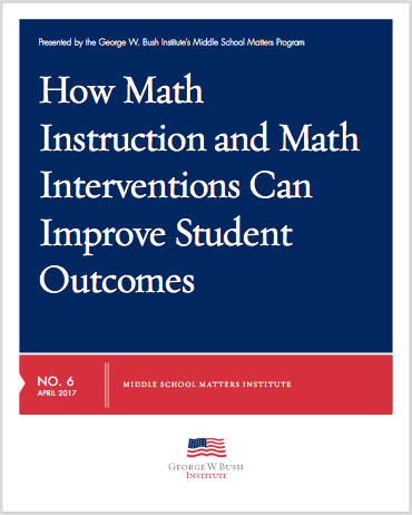 screen shot of a document that reads How Math Instruction and Mathematics Interventions Can Improve Student Outcomes