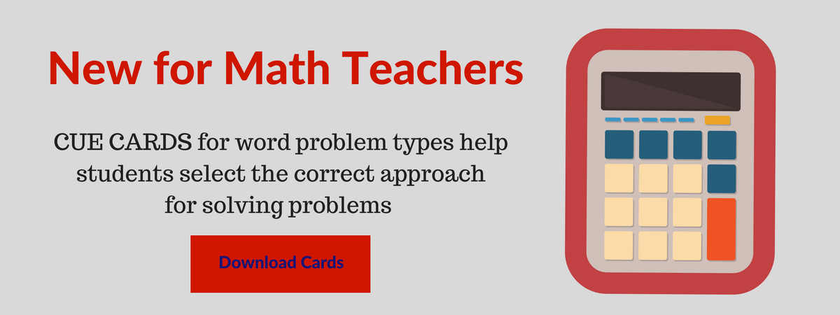 cue cards for math teachers